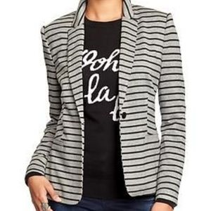Old Navy Classic Striped Knit Blazer